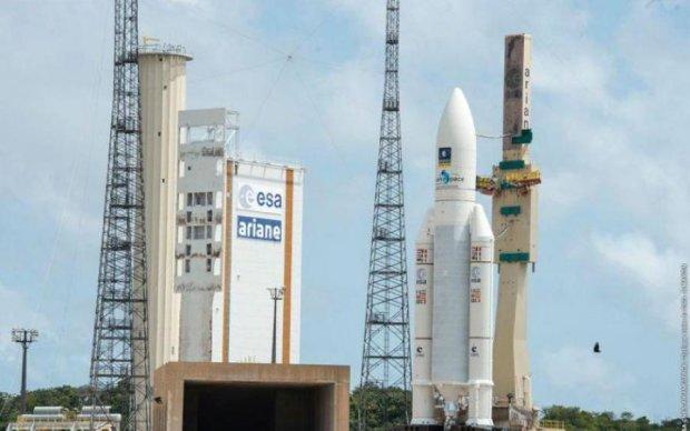 Появилось видео успешного запуска сверхтяжелой ракеты Ariane 5