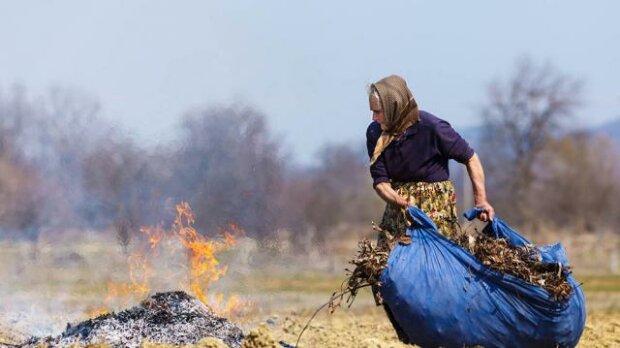 Порча – за сожжение травы: горе-Ванга записалась в экологи и пригрозила киевлянам жутким проклятием