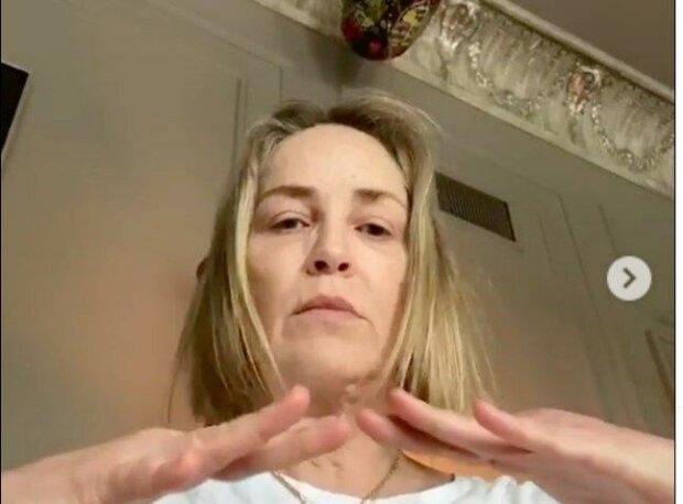 Шерон Стоун, скріншот з відео