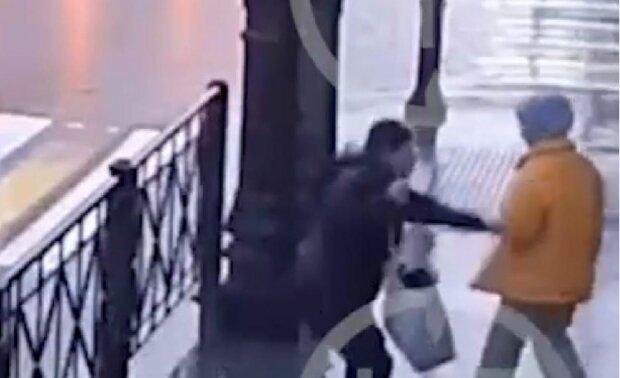 Напад у Пітербурзі, скріншот: YouTube