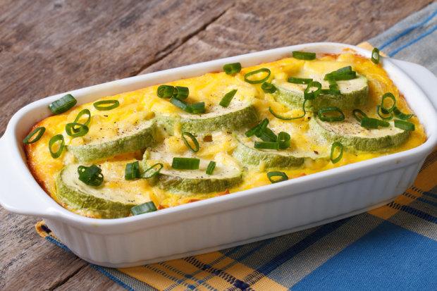 Смачний рецепт кабачків запечених з сиром