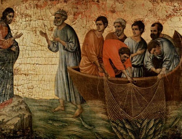 Божья благодать сошла с небес на бедняков, лицо Иисуса улыбнулось людям
