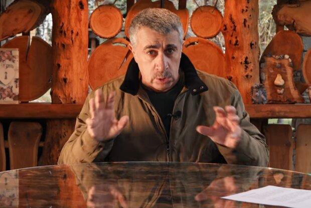 Евгений Комаровский, скрин с видео