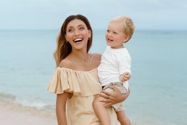 Регина Тодоренко с сыном, фото с Instagram