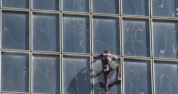 Британский человек-паук взобрался на небоскреб Шард
