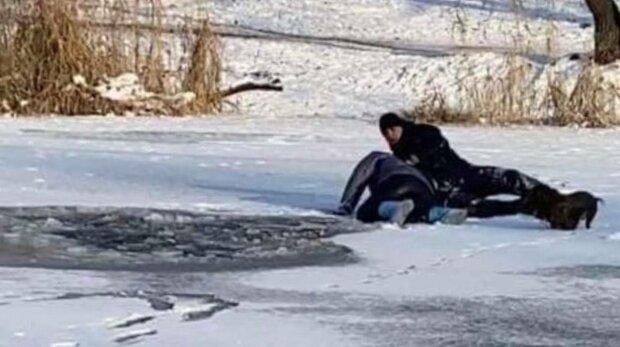 Провалилися під лід, фото: соціальні мережі