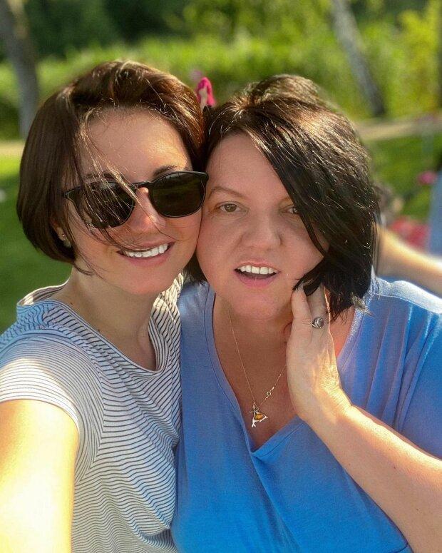 Ольга Цибульська з мамою, фото: Instagram