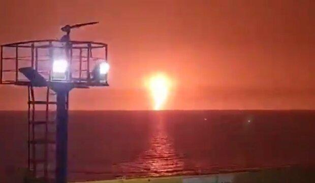 виверження вулкана в морі, скріншот з відео
