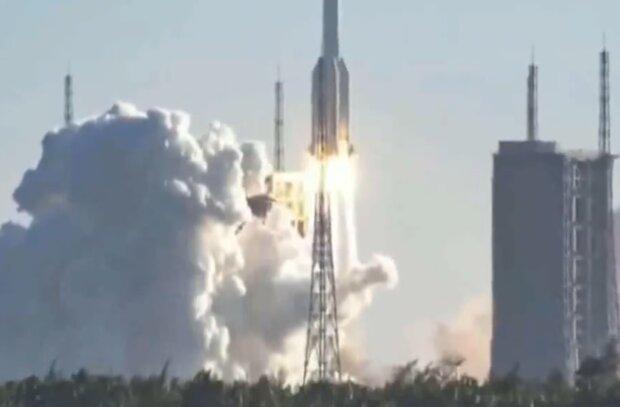 Запуск ракеты, скриншот с видео
