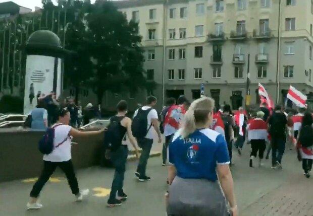 протесты в Беларуси / скриншот из видео