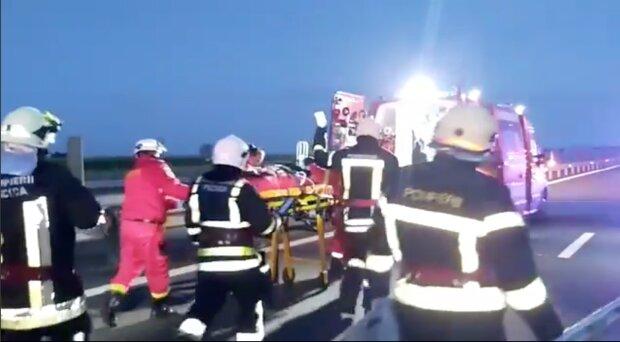 Аварія в Румунії, фото: скріншот з відео