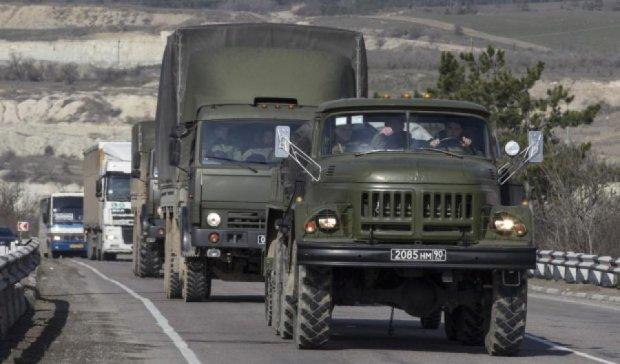 Из России на Донбасс зашли три колонны военной техники