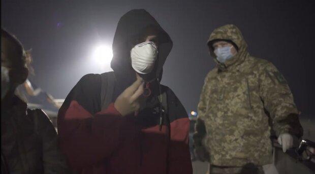 Эвакуированные украинцы, скриншот: Facebook