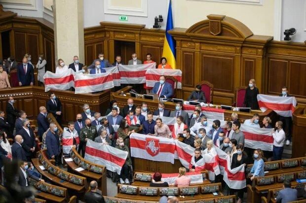 Верховна Рада, підтримка народу Білорусі - фото з Фейсбук нардепа Андрія Осадчука