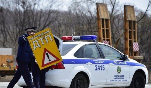 Российский водитель покусал сына гаишника
