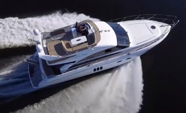 Яхта, скриншот видео