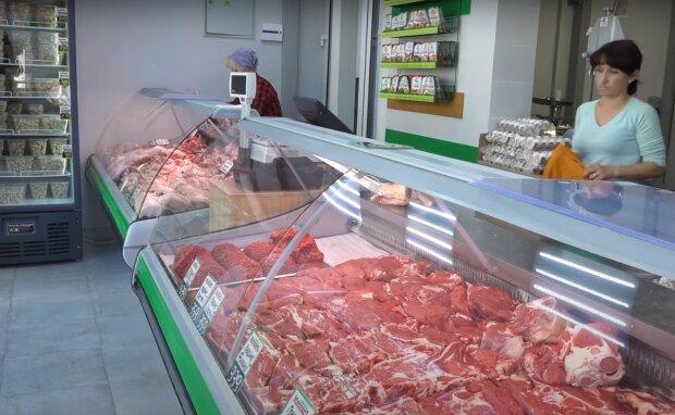 мясной магазин, скриншот из видео