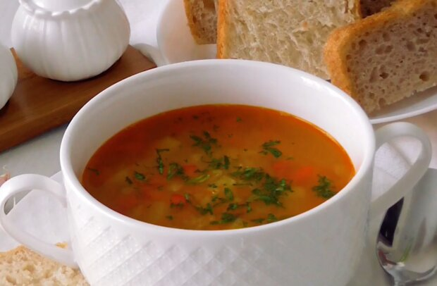 Суп із сочевиці, скріншот: YouTube
