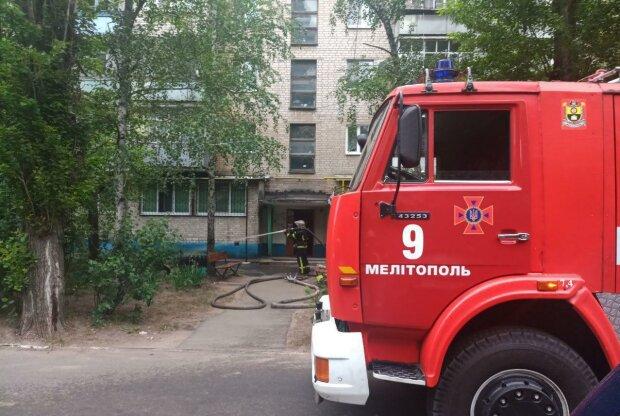 Под Запорожьем вспыхнула квартира с людьми - выбраться смогли не все