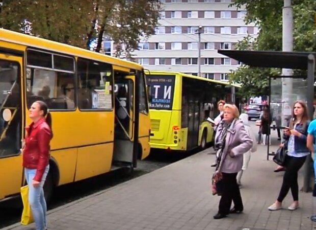 маршрутки Львова, скріншот з відео