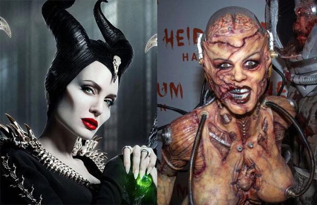 Анжелина Джоли и Хайди Клум, фотоколлаж znaj.ua