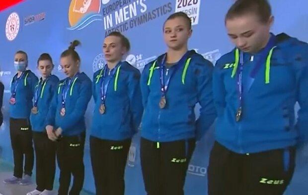 Награждение сборной Украины, фото: Facebook.com/EuropeanGymnastics
