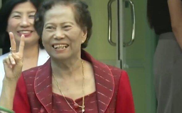 Джамуай Сає-Йонг вылечилась от коронавирус, скриншот: Facebook