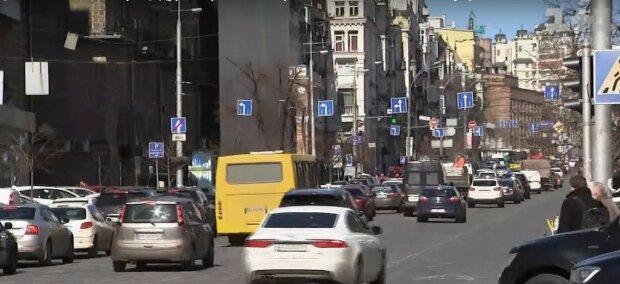 Пробки в Киеве, фото: скриншот из видео