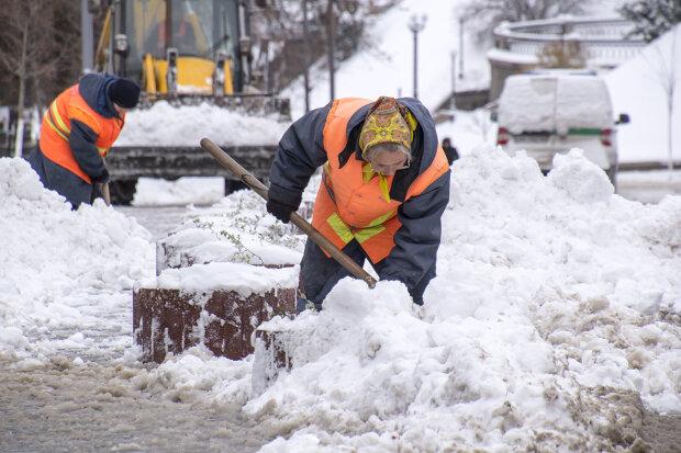 Украину накрыл снежный Армагеддон, деревья падают на голову, а города тонут в пробках