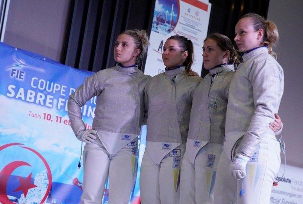 Українки у напруженій боротьбі вирвали срібло Кубка світу з фехтування