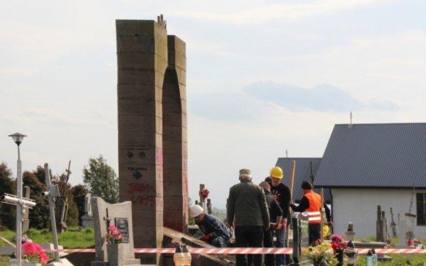 Польські націоналісти знищили пам'ятник УПА