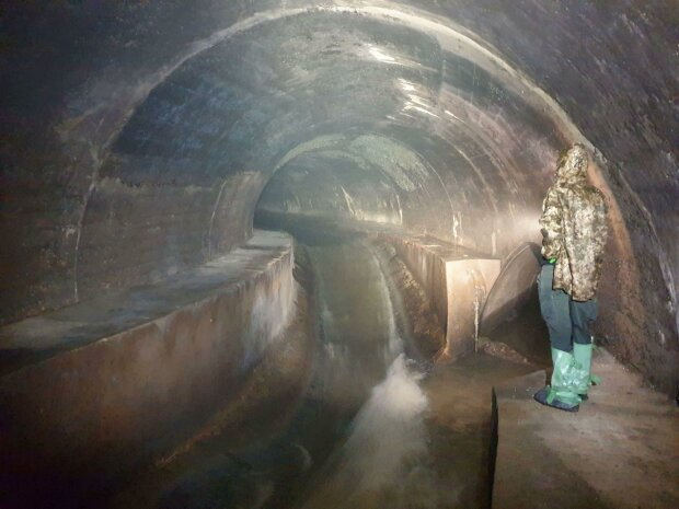 Дігери прогулялися каналізацією Львова, фото: Facebook Андрій Риштун
