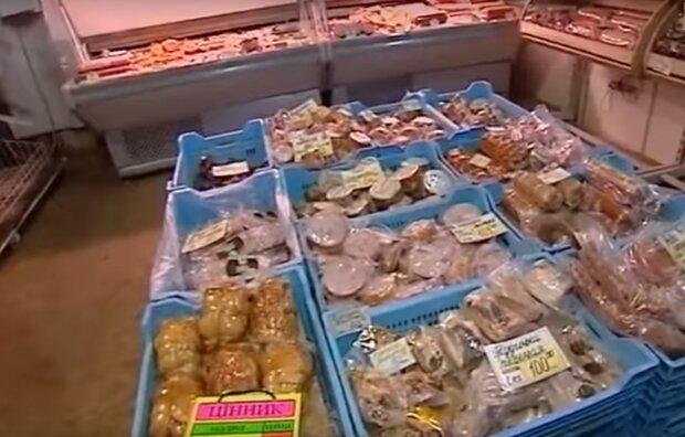 продуктовий магазин, скріншот з відео