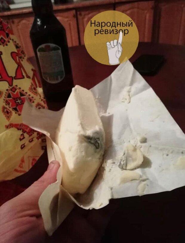 """Масло с плесенью, фото: Telegram-канал """"Народный ревизор"""""""