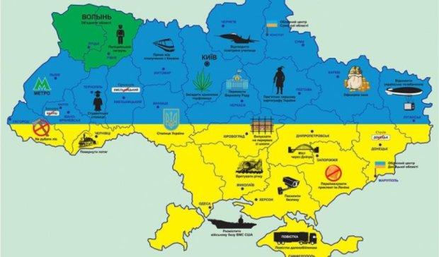 Стусів замість Донецька, парламент у Черкасах та дирижабль-ТВ у Луганську