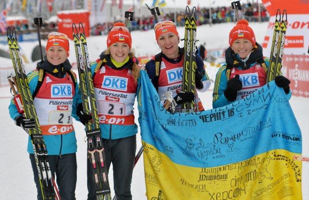 Украинские биатлонистки утерли нос россиянкам и захватили лидерство в Кубке наций