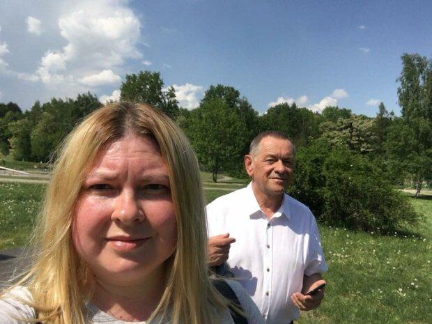 Катерина Гандзюк з батьком, фото з фейсбук