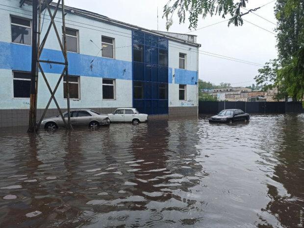 Мощный ливень в Одессе, фото: Думская