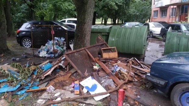 В Тернополе коммунальщики Надала забили на мусор - неделями гниет под окнами