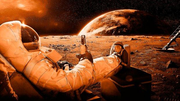 NASA показало гигантскую ледяную лавину на Марсе: несется на бешеной скорости