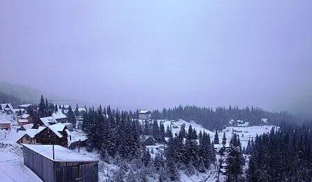 На Закарпатье пришла зима