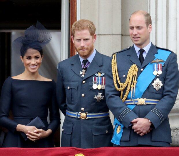 Принц Уильям, принц Гарри и Меган Маркл, фото Getty Images