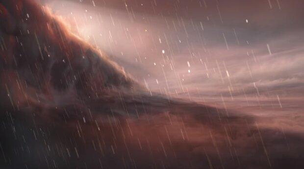 Залізний дощ на екзопланеті WASP-76b, візуалізація ESO