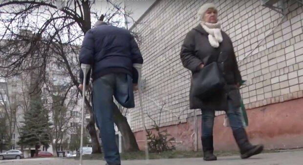інвалід, скріншот з відео