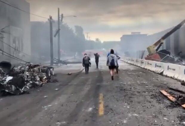 Протесты в Миннеаполисе, фото YouTube