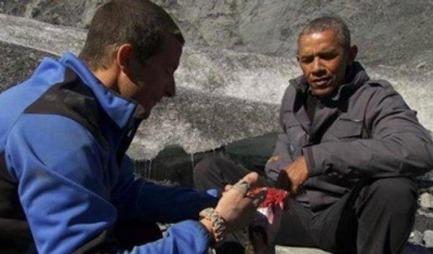 На Алясці Обама пообідав лососем, якого не доїв ведмідь (відео)