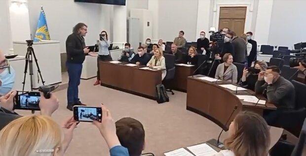Депутатский хор, скриншот с видео