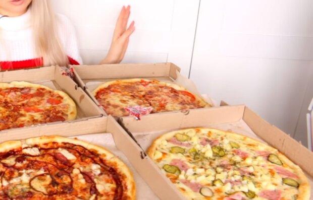Фастфуд, пицца, скриншот видео