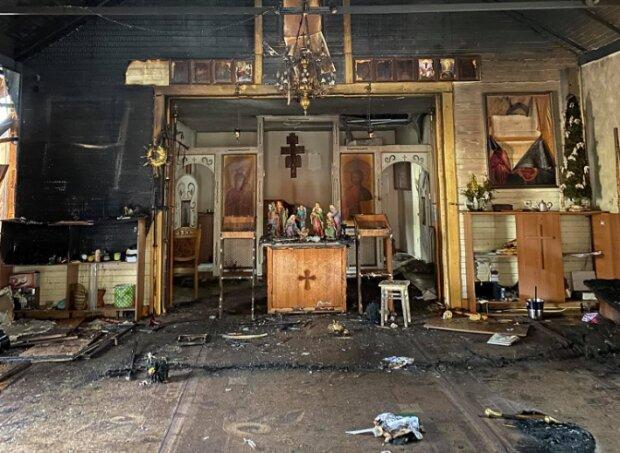 На Львовщине сгорела церковь, фото: Михаил Гловяк
