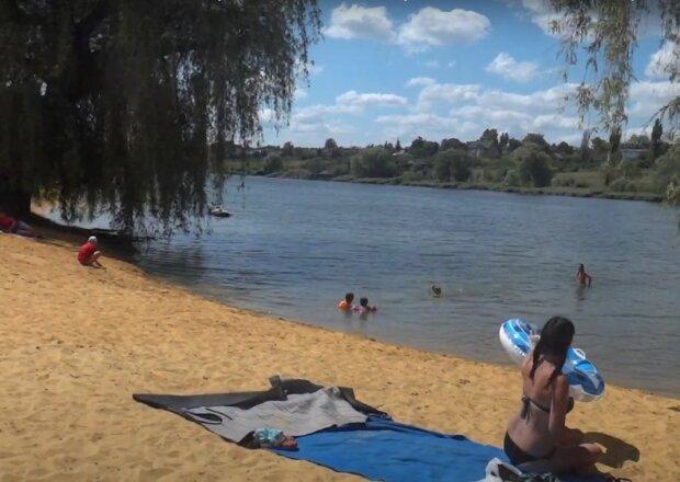пляж, скриншот из видео